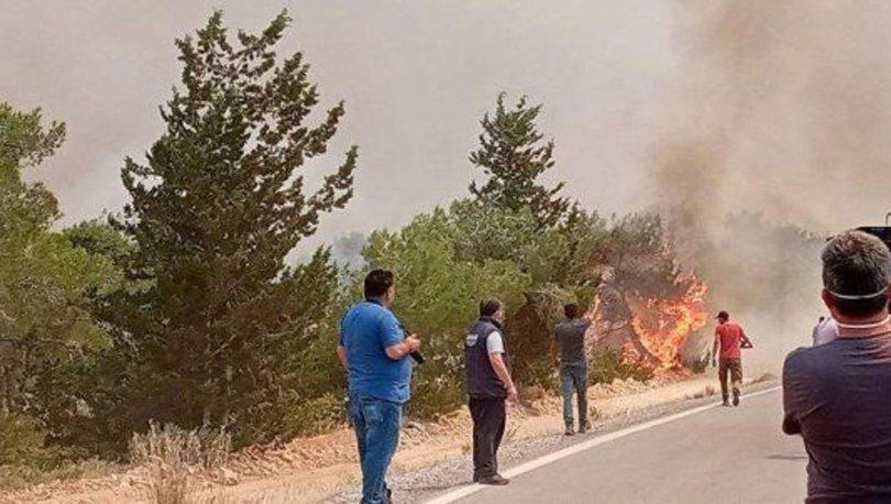 KKTC'de orman yangını, Türkiye'den helikopter gönderildi