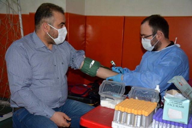 Başkan Erener'den kan bağışına destek