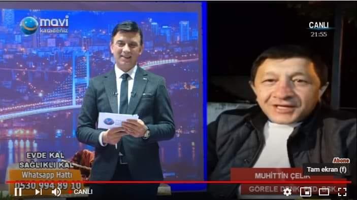 Gör-Fed Başkanı Muhittin Çelik Mavi Karadeniz TV'ye konuk oldu