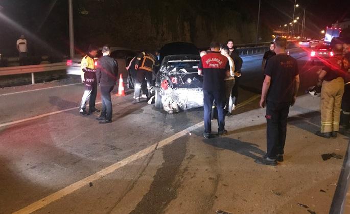 Giresun'da trafik kazası: 1 yaralı