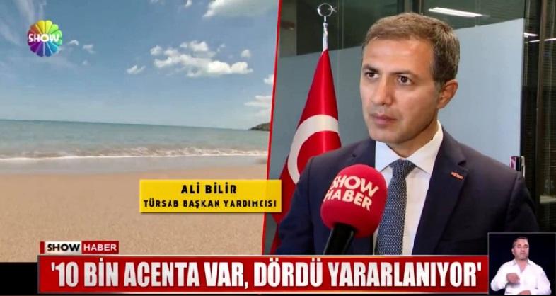 Ali Bilir Turizm sektöründe ki ayrımcılığı SHOW TV de değerlendirdi.