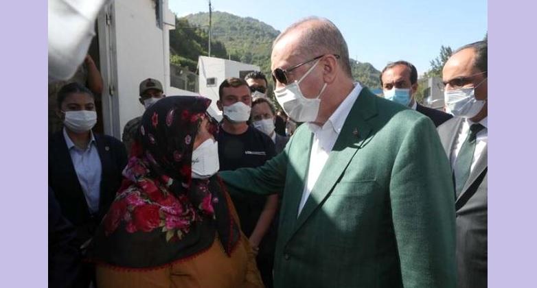 Cumhurbaşkanı Erdoğan,  Giresun'da vatandaşlarla buluştu